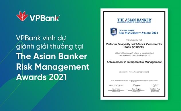 VPBank lần thứ 2 liên tiếp nhận giải thưởng quản trị rủi ro danh giá cấp châu lục