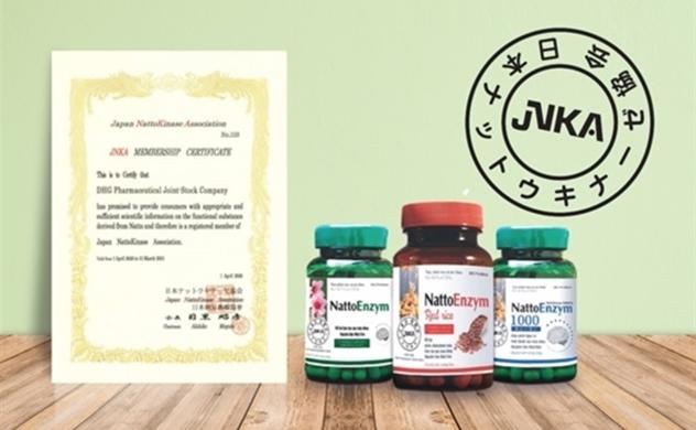 Dấu mộc thay cho lời cam kết đồng hành cùng sức khỏe người Việt của JNKA
