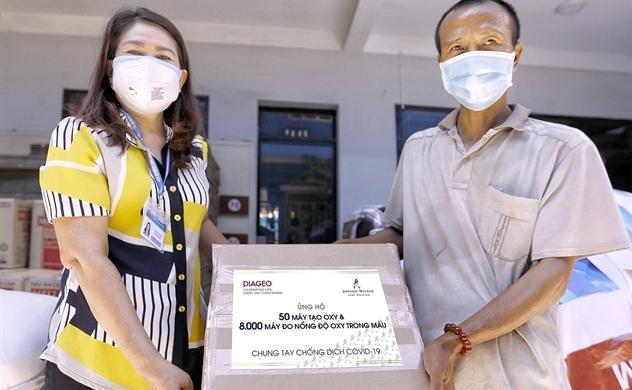 Diageo ủng hộ thiết bị y tế phòng chống dịch COVID-19