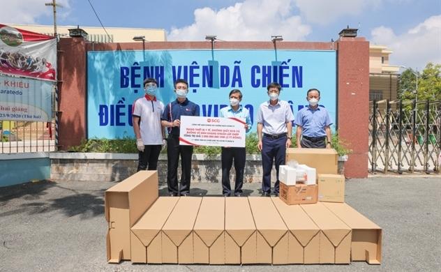 SCG hỗ trợ buồng vệ sinh kháng khuẩn cho các bệnh viện dã chiến