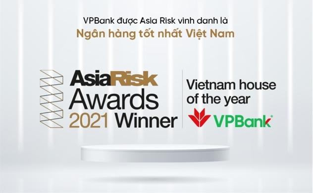 VPBank là Ngân hàng xuất sắc nhất năm 2021 về quản trị rủi ro và sản phẩm phái sinh