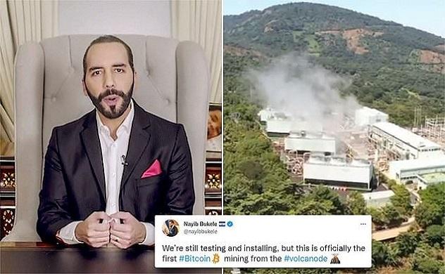 El Salvador khai thác Bitcoin bằng năng lượng từ núi lửa