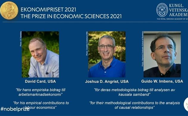 Giải Nobel kinh tế thuộc về ba người tìm ra thí nghiệm trong cuộc sống thực