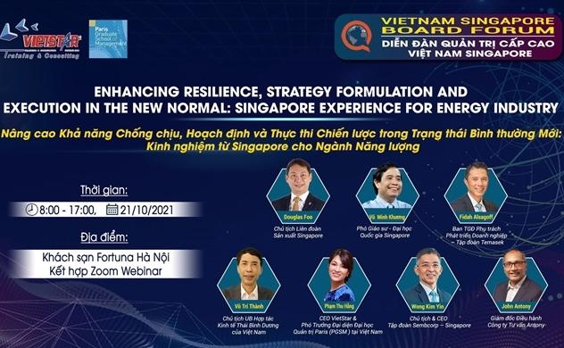 Diễn đàn Quản trị cấp cao Việt Nam - Singapore: Chuyển hướng chiến lược từ Covid-19