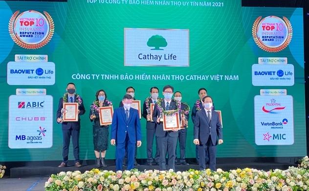 Cathay Life Viet Nam vinh dự nhận giải thưởng Top10 Công Ty Bảo Hiểm Nhân Thọ Uy Tín 2021